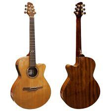 Guvor GA705CE Electro Acoustic Guitar Folk Style Cutaway Steel Strings Preamp Z0