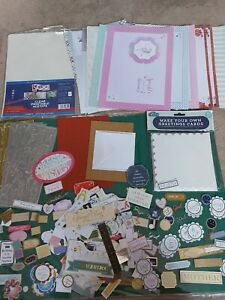 Job Lot Of Card Making Items, Inserts,Cards, sentiments,acetate and Stickers