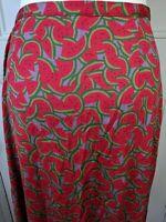 Diane Von Furstenberg silk skirt Size 12 100% silk water melons pattern A line