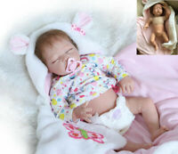 22in Reborn Baby Dolls Girl Handmade Real Reborn Toddler Doll With Blanket