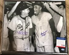 Duke Snider & Don Newcombe Signed Dodgers 16x20 Photo *1955 WS Champs PSA