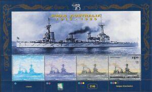 Marshall Islands 1999 HMAS Australia $1.20 ship Souvenir Sheet, Sc #703 - pw38