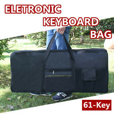 61 Key Electronic Piano Keyboard Bag Padded Case Cover Black