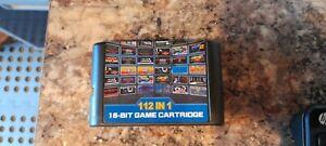 112 in 1 SEGA Megadrive Console Genesis 16bit Multi Cartridge Sonic Games Bundle