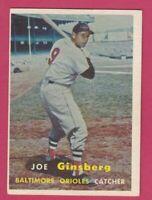 1957 Topps # 236 Joe Ginsberg -- Orioles (EX)