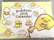 Gudetama Calendar 2018 Wall hanging Sanrio Kawaii cute From Japan NEW