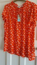 boden red floral top size 20