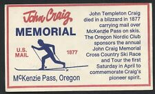 OR McKenzie Pass 1977 JOHN CRAIG MEMORIAL Oregon Nordic Club OVER PASS ON SKI'S