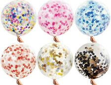 90cm Giant Confetti Clear Baby Shower Birthday Wedding Party Balloon Helium Gold