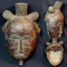 Art Africain Masque féminin ancien Igala nigéria scarification belle patine 37c