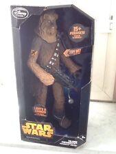 Star Wars 34 nuovo cm Chewbacca  Parlante Disney Originale spedito da Italia