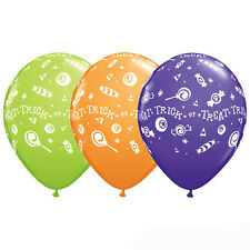 Trick or Treat Candy Latex Balloons, Halloween Classroom Decor, Fall Festival 10