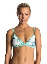 Roxy Ready Made Reversible Fixed Pool Blue Bikini Top Small ERJX303393