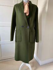 ZARA TRAFALUC Laine Look Vert Foncé Manteau Femme S | eBay