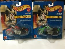 2 Different 1989 Hot Wheels Die Cast Motorcycles, Harley Davidson Arco Toys