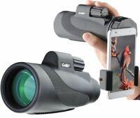 Gosky Titan Watetproof 12X50 Prism Monocular High Power with Smartphone Adapter