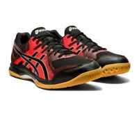 Asics Mens Gel-Rocket 9 Indoor Court Shoes Black Red Sports Squash Badminton