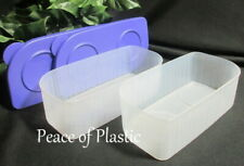 Tupperware Set of 2 Fresh N Cool 4.25 Cup Long Storage Containers Purple Seals