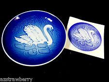 Vtg 1976 Royal Copenhagen Denmark Mors Dag Mother's Day Swan family Plate