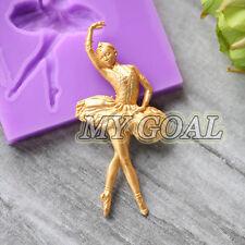 Fairy Dancing Girl Silicone Fondant Mould Cake Decor Sugar Icing Gum Paste Mold