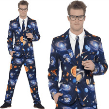 Mens Stand Out Suit Space Planet Stag Do Party Comedy Funny Fancy Dress Costume