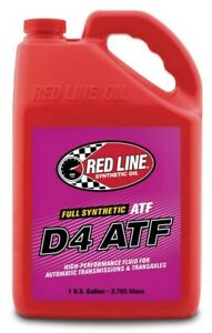 Red Line Fully Synthetic D4 ATF 70W80 GL-4 Transmission Gear Oil (1-Gallon Jug)