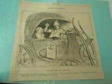 Dessins de H. Daumier 1900 On refuse du monde l'hospitalité d'un Milord