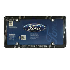 Brand New Built Ford Tough Car Truck Heavy Duty Chrome Metal License Plate Frame