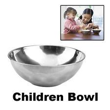 Safe Stainless Steel Smooth Rolled Edge Baby Kids Children Dinner Feeding Bowl