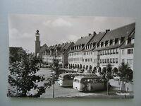 Ansichtskarte Freudenstadt im Schwarzwald 50er?? Marktplatz Rathaus Omnibusse