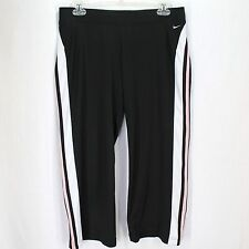 Nike Capri Pants Sz M 8/10 Black Pink White Athletic Fitness Yoga