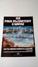 THE BEATLES PAUL McCARTNEY & WINGS 1979 RARE ORIGINAL PRINT PROMO POSTER AD