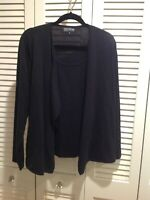 JONES NEW YORK CASHMERE SWEATER WITH ATTACHED SHELL..BLACK SIZE 1X