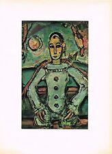 1940s Vintage Georges Rouault Pierrot Aristocrate Offset Litho Art Print