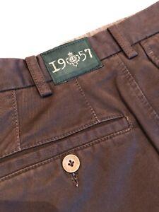 Luigi Borrelli Pantalone Casual Chic Uomo Tg.44 Luxury Vintage Cacao