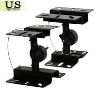 2-Pack Heavy Duty Speaker Wall Ceiling Mount Brackets Surround Sound Adjustable