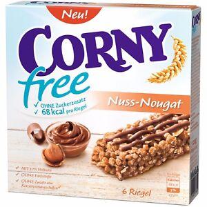 12 x Muesli Cereal Bars (Nut-Nougat / Nuss-Nougat) by CORNY®  **SUGARFREE**