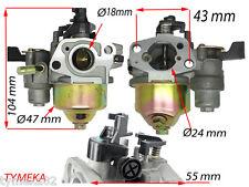 Carburateur piece tondeuse motoculteur moteur 4tps  dim sur photo entraxe 43mm