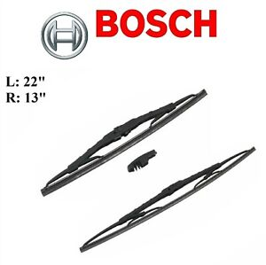 2PCS BOSCH FRONT D-Connect Wiper Blade For NISSAN JUKE 11-17/TOYOTA ECHO 00-05