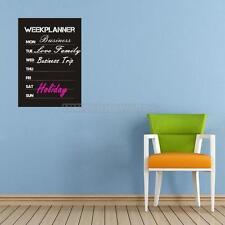 UN3F Weekly Planner Calendar MEMO Chalkboard Blackboard Vinyl Wall Sticker Decal