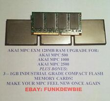128MB RAM UPGRADE WITH 3x 1GB CF MEMORY CARDS FOR AKAI MPC 500 / 1000 / 2500
