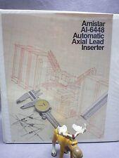 Amistar AI-6448 Automatic Axial Lead Inserter Operators Manual Copy