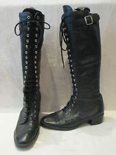 Unbranded Lace Up Knee High Boots Casual Shoes for Women