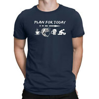 Plan for Today Are Coffee Fishing Beer and Sex Humor Funny Gifts Men's T Shirt