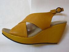 Chocolat Blu Women's Britney Slingback Wedge Sandal, Yellow, 36 M EU/5.5 M US