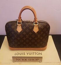 Authentic LOUIS VUITTON Alma Monogram Canvas Hand Bag