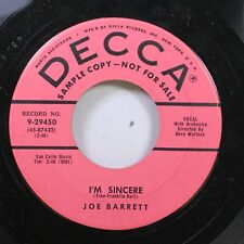 50'S & 60'S Promo 45 Joe Barrett - I'M Sincere / Why Did You Break My Heart On D