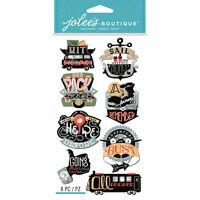 """Jolee/'s Boutique /""""Air Travel/"""" 10 pcs Dimensional Sticker #T3 Plane, Suitcase"""