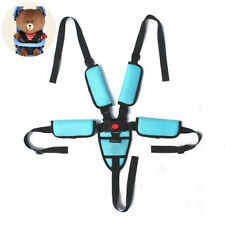 Universal Baby Seat Belt 5 Point Harness Belt Adjustable Kid Safe Strap Clips