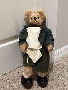 """Hermann Teddy Bear Peaceful World Hansel Mohair Limited Edition 63/1000 NWT 17"""""""